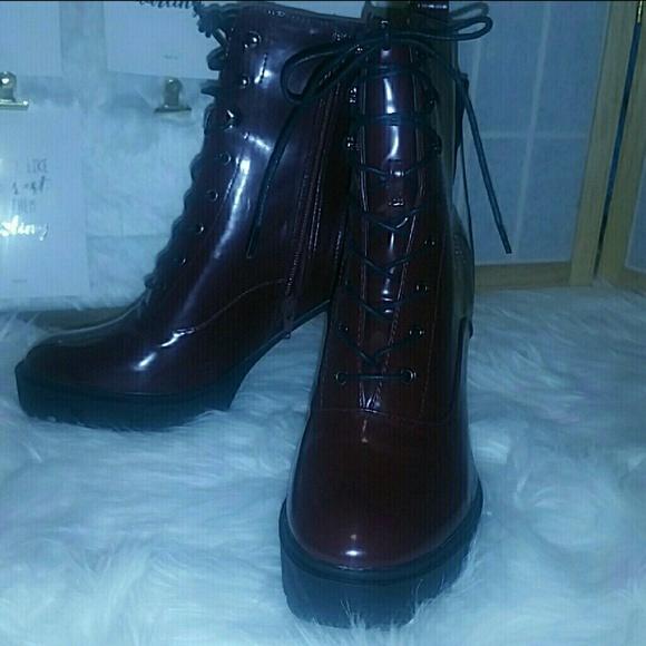 25c5d887187 Forever 21 High Heel Combat Boots Boutique